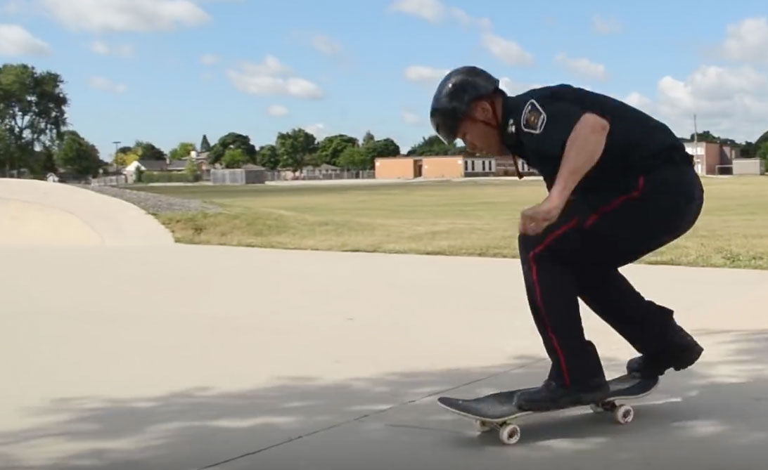 Police Office Skateboarding